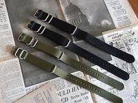 Nato G10 Zulu Military Diving Nylon Watch Strap 18mm 20mm 22mm 24mm