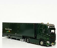 "WSI TRUCK MODELS,SCANIA S HIGHLINE CS20H SEMI BOX TRAILER 2 AXLE ""ROUBOS&ROUBOS"""