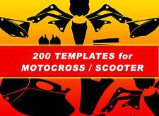 Motocross , Dirt ,vector Templates (1:1)