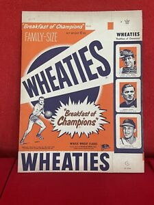 ORIGINAL UNUSED 1952 WHEATIES CEREAL BOX TRADING CARDS Sports Hero NO RESERVE