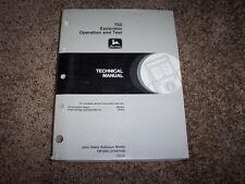John Deere 750 Excavator Operation & Test Shop Repair Technical Manual Tm1809
