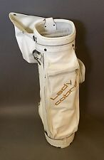 Vintage Lady Cobra Leather Golf Cart Bag White Very Nice