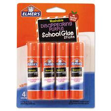 Elmer's Washable School Glue Sticks, Purple, .24 oz, 4/Pack - EPIE543