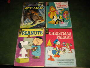Lot of 4 Gold Key Silver Age Comics King Leonardo PT109 Peanuts Christmas Parade