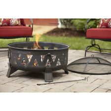 Wood Burning Fire Pit Outdoor Fireplace Round Deck Heater Patio Stove Backyard