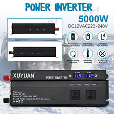 5000W Car LED Power Inverter Modified Sine Wave WATT 12V to AC110V Converter USB