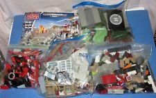 Over 3.5 LBS Mega Bloks Bulk Pieces Parts Lot, 2 micro cars, 1 manual