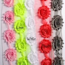 "50yards 2.6"" Chic Shabby 3D Fabric Chiffon Flowers For Hair Accessories"