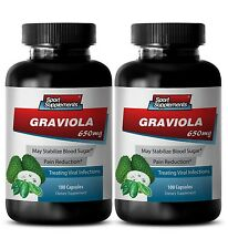Brain Booster Capsules - Graviola Leaf 650mg - Graviola And Allergies 2B