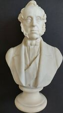 Antique 19thC Victorian Parian Bust -  Prime Minister Lord Palmerston - WH Goss
