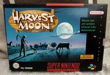 Nintendo Snes HARVEST MOON PAL complete great condition manual game boxed