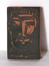 Pablo Picasso, Visage de Homme (Ramie 539), Red Earthenware Clay Ceramic Lot 319