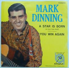 MARK DINNING 45 A Star Is Born/You Win Again MGM teen ct1119