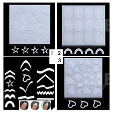 French Manicure Edge Tip Guides Heart Star Nail Art Toes Stencil Stickers