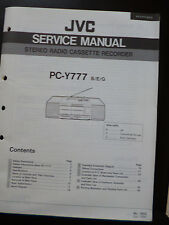 ORIGINALI service manual JVC STEREO RADIO CASSETTE RECORDER pc-y777