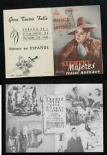 Año 1943. Programa publicitario de CINE. Título: SIEMPRE MUJERES.