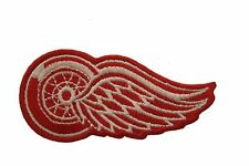 """DETROIT RED WINGS NHL LOGO IRON-ON PATCH CREST BADGE ..SIZE 3"""" X 1 1/2"""" INCHES"""