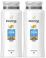 (2) Packs Pantene Shampoo Conditioner 2in1 Pro-V Classic Clean, 20.1Fl Oz Each