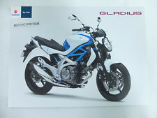 Moto Suzuki Gladius 650 pubblicita brochure depliant motorcycles prospect