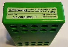 71478 REDDING TYPE-S NECK BUSHING SIZING DIE - 6.5 GRENDEL - BRAND NEW