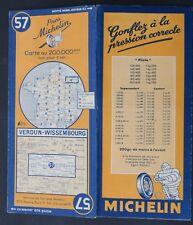 Carte MICHELIN old map n°57 VERDUN WISSEMBOURG 1948 Guide Bibendum pneu tyre