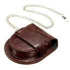 Vintage Leather Chain Pocket Watch Holder Storage Case Box Purse Coin Pouch Bag