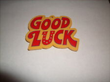 1979 HALLMARK HARD PLASTIC PAINTED COOKIE CUTTER GOOD LUCK MINT SHAPE