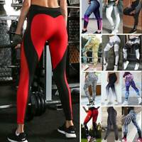 Women Yoga Pants Butt Lift Sports Printed Leggings Fitness Gym Workout Trousers