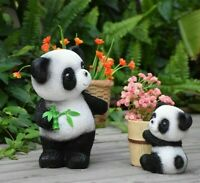 Panda Pot Resin Planter Succulent Potted Plants Decor Creative Pots Garden Cute
