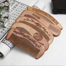 Beauty Handmade Peach wood Anti-Static Comb Beard And Mustache Hair Brush