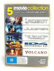 I, Robot, Jumper, The Day After Tomorrow, Independence Day, Volcano DVD Region 4