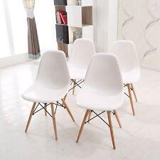 4 x dsw Wohnzimmerstuhl Esszimmerstuhl Bürostuhl Designer Kunststoff Eiffel Weiß