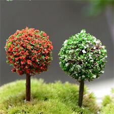 5pcs/lot Simulation Tree Flower Colorful Ball Tree Micro Landscape Ornaments LC