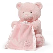 Animated Moving Pink Baby Girl Gund Talking Peek A Boo Teddy Bear