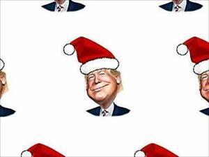2-Pack:28x30 inch Sheet: Trump Santa Hat Wrapping Paper (Christmas MAGA US Gift)