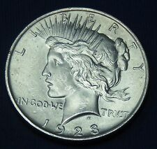 C001-30 # UNITED STATES | SILVER ,PEACE, 1 DOLLAR, 1923, F