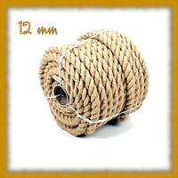 12mm Pure Jute Rope Twisted Cord braided Garden Boating Deckingh Home