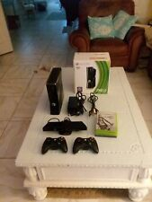 Microsoft Xbox 360 S with Kinect 250GB Glossy Black Console. 5 Games. TESTED