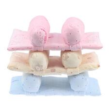 Infant Cotton Soft Pillow Prevent Flat Head Anti Roll Cushion Sleeping Supp TDUK