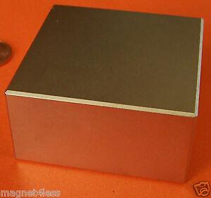 "4 Rare Earth 2"" x 2"" x 1"" Grade N42 Neodymium Block Magnets"