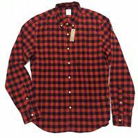 J. Crew Buffalo Plaid Midweight Herringbone Flannel Shirt NWT Large Slim Fit