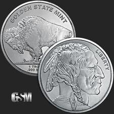 1oz Buffalo Nickel * Indian / Buffalo Design .999 Fine Silver Golden State Mint