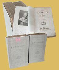 Vie du R.P. Lacordaire Libraire Jacques Lecoffre Paris Joseph Theophile Foisset