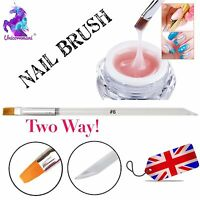 6mm Acrylic UV Hard Gel Nail Art Design Polish Painting Brush Manicure Tool UK
