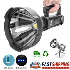 990000LM P50 LED Spotlight Worklight Rechargeable Flashlight Camping Searchlight