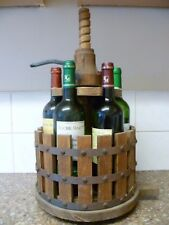 A VINTAGE FRENCH WINE PRESS TYPE, MULTI WINE BOTTLE HOLDER. FRENCH WINE RACK