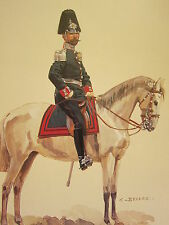 VINTAGE PRINT KAISER'S GERMAN ARMY ~ MAJOR SACHSISCHES PIONIER BATAILLON PIRNA