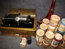 EDISON Phonograph mit über 20 Walzen Zylinder