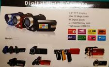 "VIDEOCAMERA TELECAMERA 2.4"" TFT DISPLAY ZOOM DIGITALE 12 MEGA PIXELS SD CARD"