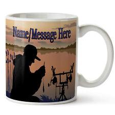 Personalised Mug CARP FISHING Ceramic Cup Him Her Birthday Gift ST156